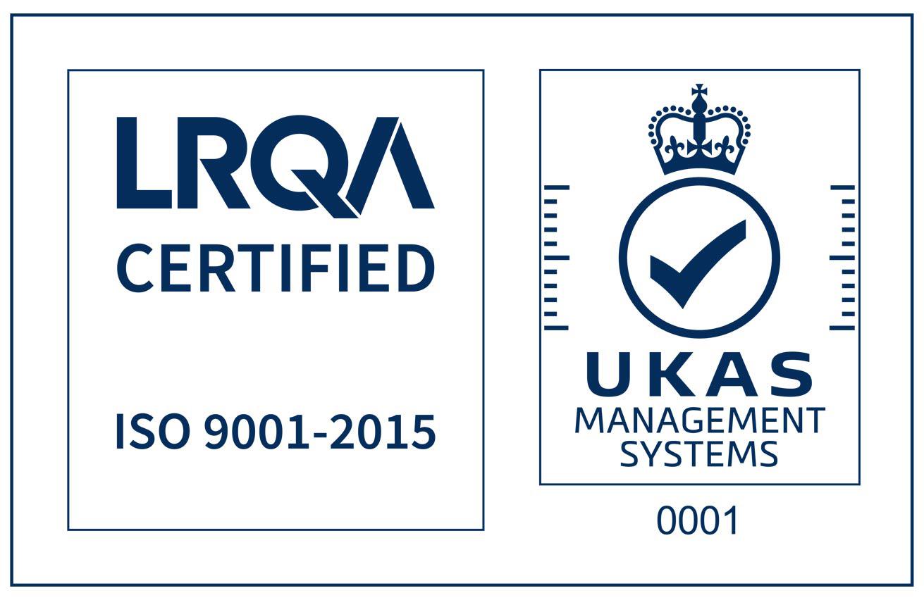 ISO 9001 UKAS azul